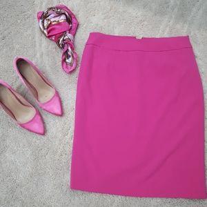 Pencil skirt classic fuchsia pink
